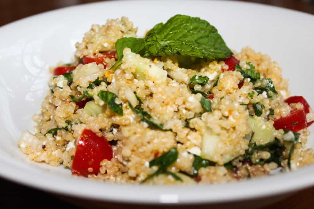 Healthy Feta Quinoa Salad with Lemon Dressing Recipe! You will absolutely love it!!!!