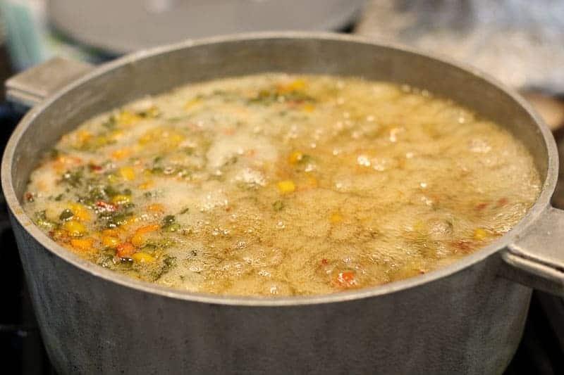 pepper jelly rolling boil