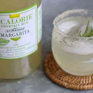 Skinny Citrus Rosemary Margarita with Jalapeño Infused Tequila