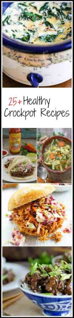 Here are over 25 amazingly delicious healthy crockpot recipes that can be thrown together to be ready and waiting for you when you get home.