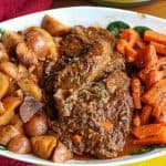 This is a five ingredient, easy, delicious Instant Pot Italian Beef Dinner Recipe.