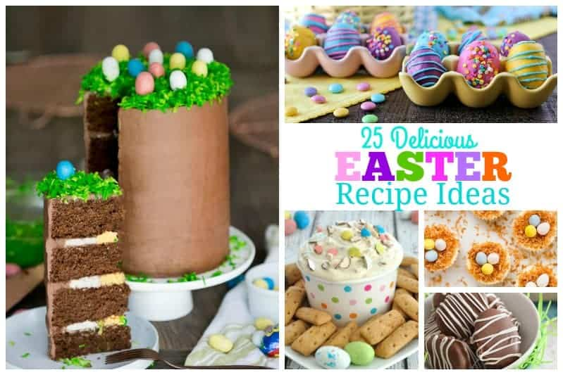 One of my favorite things about Easter is all the lovely fun desserts. This is a fantastic 25 Delicious Easter Dessert Round Up to make your Easter extra special!