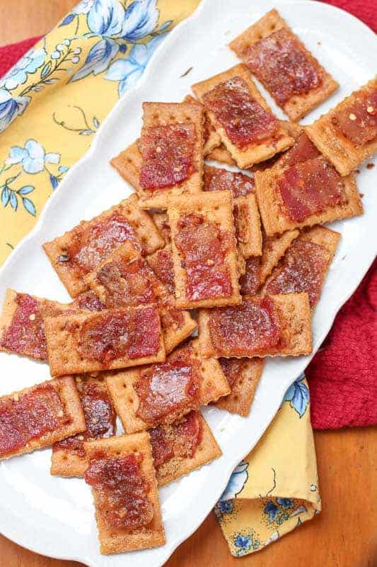 Bacon. Need I really say more? This crunchy, salty, and sweet easy bacon cracker recipe will be the next go-to recipe for all of your parties. Everyone loves this naughty little indulgence. They are so good everyone will leave asking for the recipe.