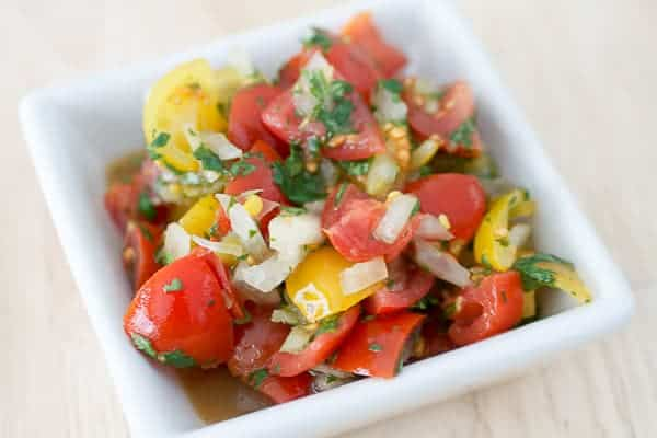 Easy Pico de Gallo from Tasty Ever After: This Easy Pico De Gallo is delicious on everything from steak, eggs, pork, chicken, potatoes, fish, and of course, anything Mexican food related.