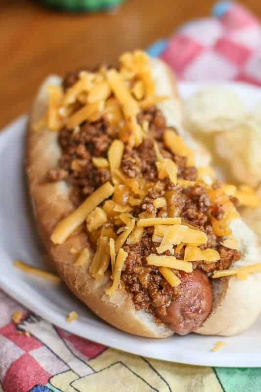 Homemade hot dog chili is so much better than the canned stuff and making this Instant Pot Southern Hot Dog Chili recipe is simple and easy! Unlike the traditional versions where you cook the hot dog chili, long and slow; this recipe is made in a short time. Once you top it on your favorite hot dog, you will know why making this homemade Instant Pot hot dog chili is worth the little extra effort!