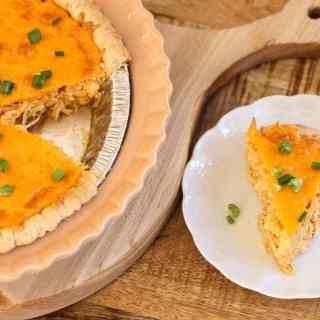 Easy Cheesy Buffalo Chicken Pie