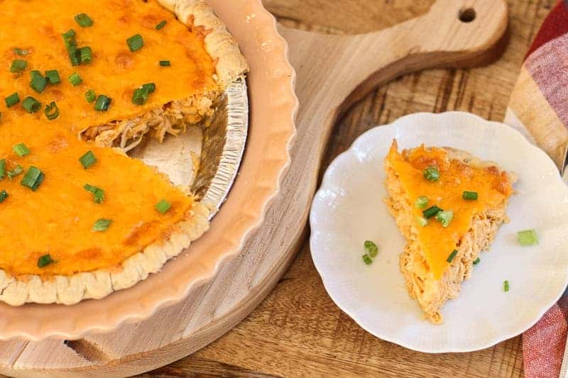 Easy Cheesy Buffalo Chicken Pie
