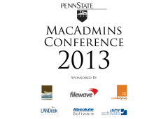 Penn State MacAdmins Conference Schedule Posted