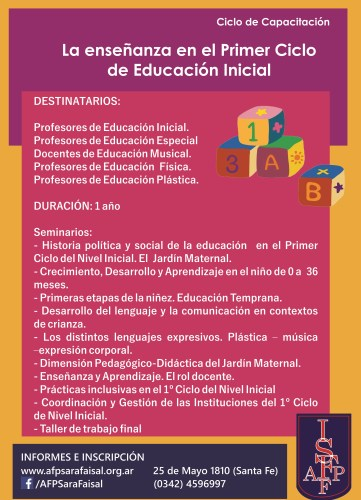 La enseñanza en el Primer Ciclo de Educación Inicial. Res. Min. 1541/16