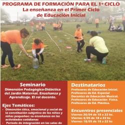 Seminario: Dimensión Pedagógico-Didáctica del Jardín Maternal. Enseñanza y Aprendizaje. El rol docente