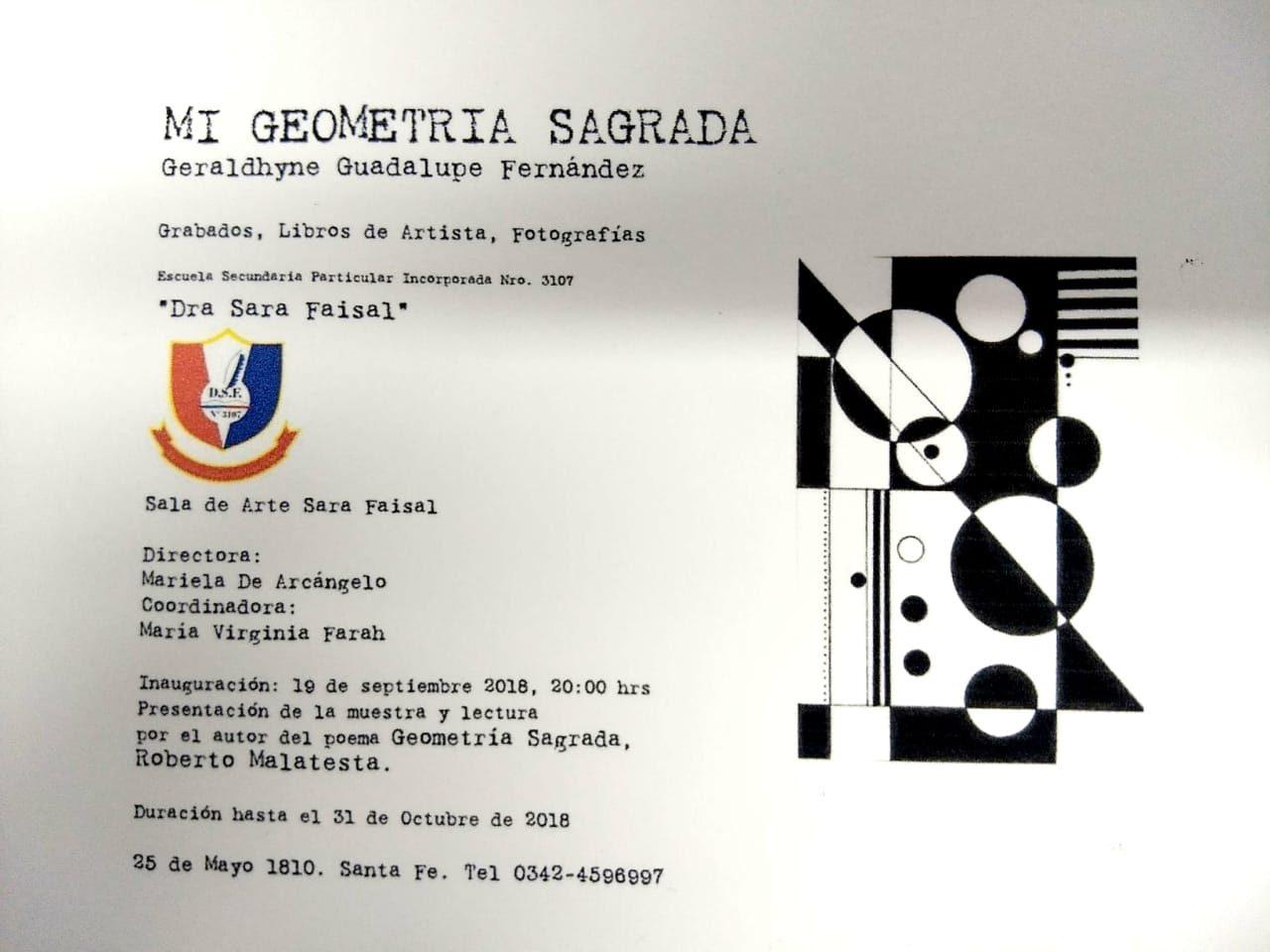 Muestra «MI GEOMETRÍA SAGRADA» de Geraldhyne Fernández y Roberto Malatesta