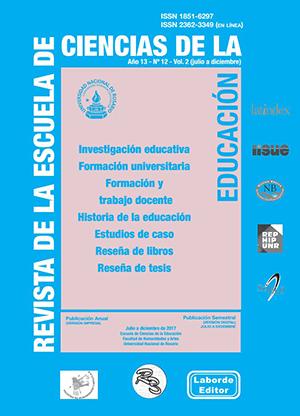 Revista de la escuela de ciencias de la educación. Año 13 – N°12. Vol. 1 –  Enero a junio de 2017.