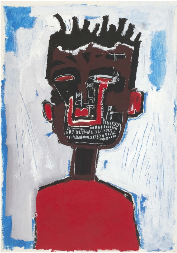 Jean-Michel Basquiat's 'Self-Portrait', 1984, acrylic and oil stick on paper mounted on canvas, 100 x 70cm.  Yoav Harlap Collection