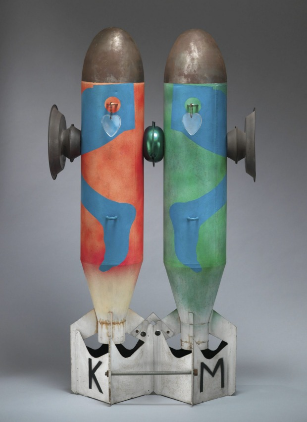"""Bombs in Love"", by Kiki Kogelnik, 1962."