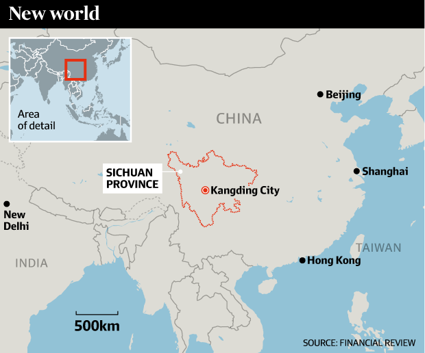 Kangding is home to abundant cheap hydro power – and inexpensive electricians.