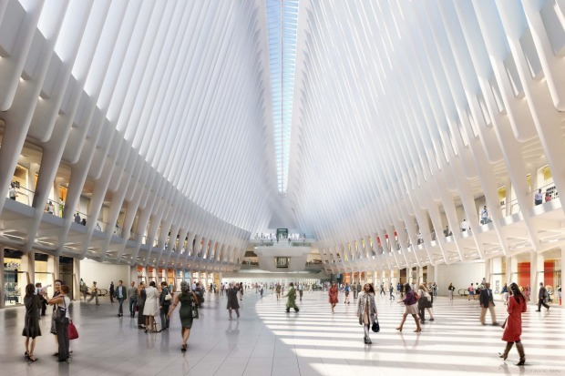 An artist's render of how the Oculus retailing space will look.