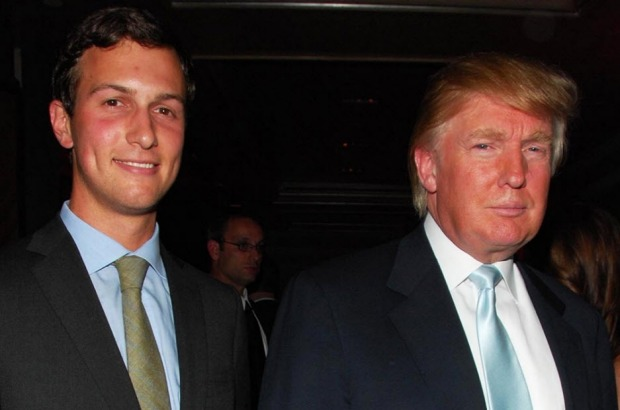 President-elect Donald Trump with son-in-law Jared Kushner. Despite his wealth and privilege, billionaire businessman ...