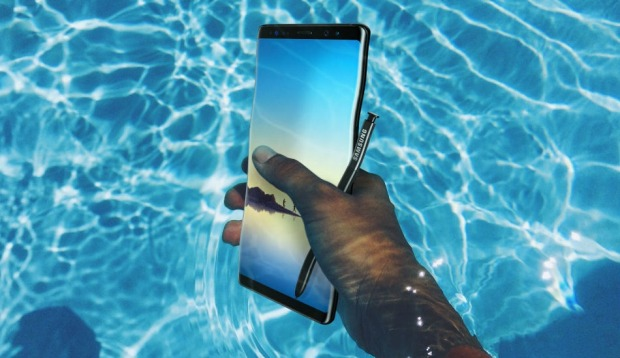 Displays now take up almost the whole front of the device – such as Galaxy's Note8.