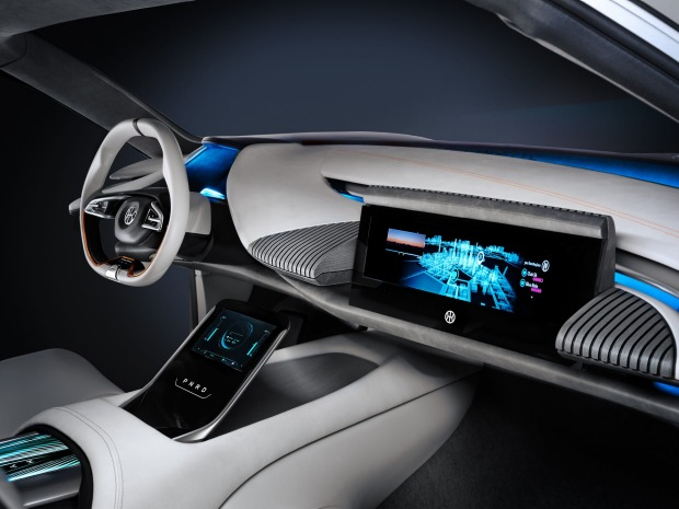 The interior of the Pininfarina-designed HK GT points to the firm's background as a car body maker and Italians' love of ...
