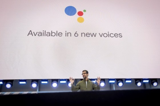 Google CEO Sundar Pichai  unveiled a voice assistant that sounds exactly like a human voice.