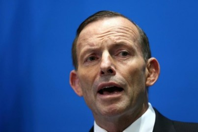 """Former prime minister Tony Abbott. What upset the ANU was his line, """"a management committee including the Ramsay CEO and ..."""