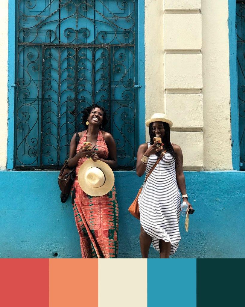 Cuban colour palette inspiration: Habana Vieja streets