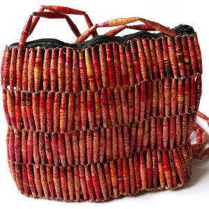 Handmade Vintage Red Bead Handbags