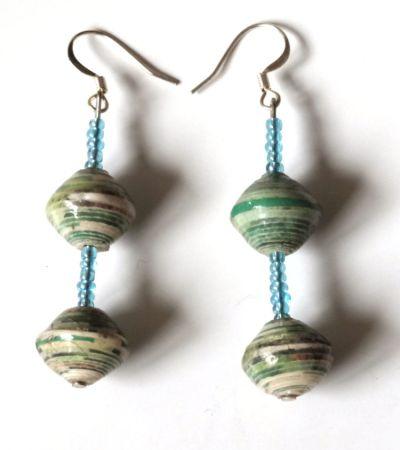 Handmade Indulgent Green Earring