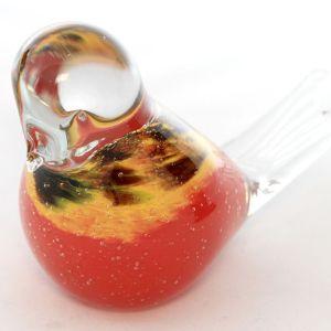 orange glass bird