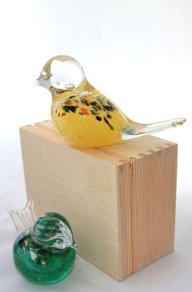glass bird with box