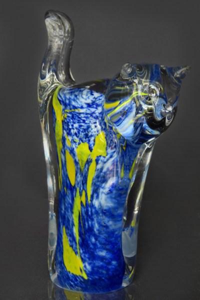 Glass Cat Blue