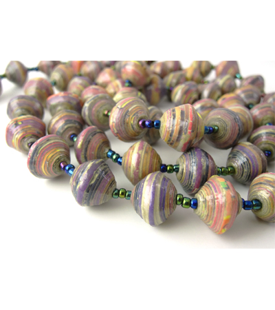 Glossy Light Purple Necklace