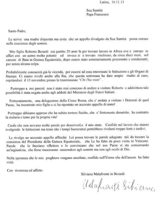 Lettera al papa