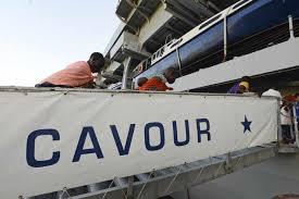 Portaerei Cavour scaletta