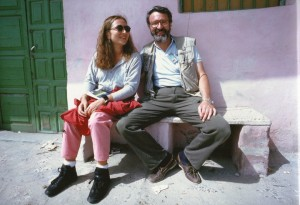 Io e Ilaria davanto hotel sahafi