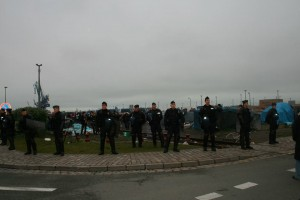 schieramento polizia