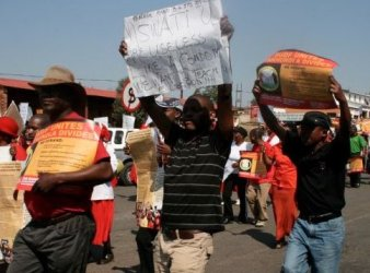 Manifestazione dell'opposizione per la liberazione dei detenuti politici dello Swaziland