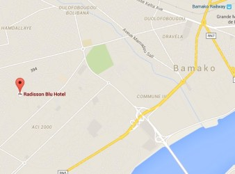 Mappa dell'area dell'attacco jihadista a Bamako