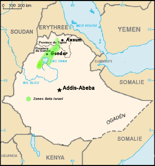 Mappa falasha