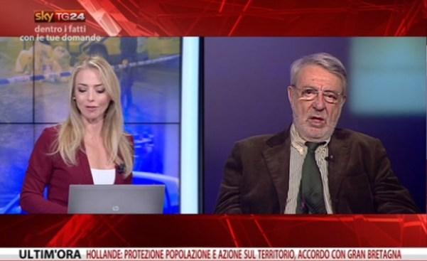 Massimo ALberizzi, direttore di Africa ExPress, in diretta a SkyTG25