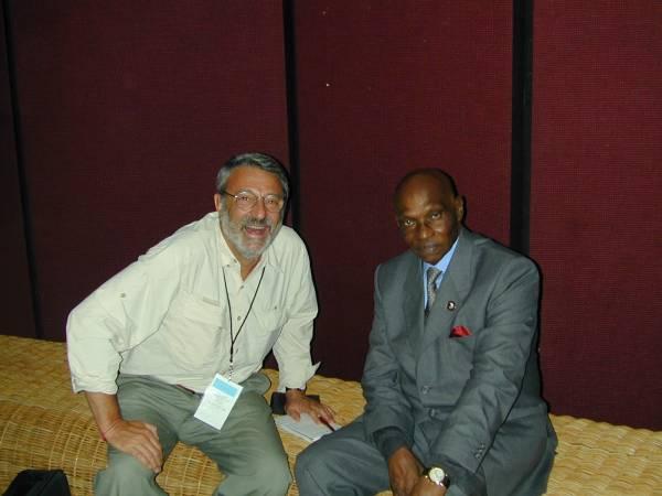 L'ex presidente del Senegal Wade con Massimo Alberizzi