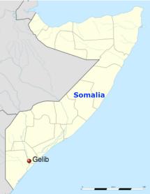 Jilib, nella mappa della Somalia
