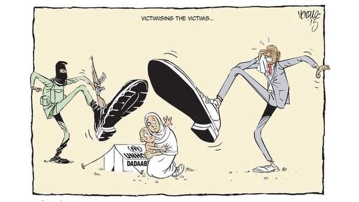 Una vignetta pubblicata dal quotidiano keniota The Star
