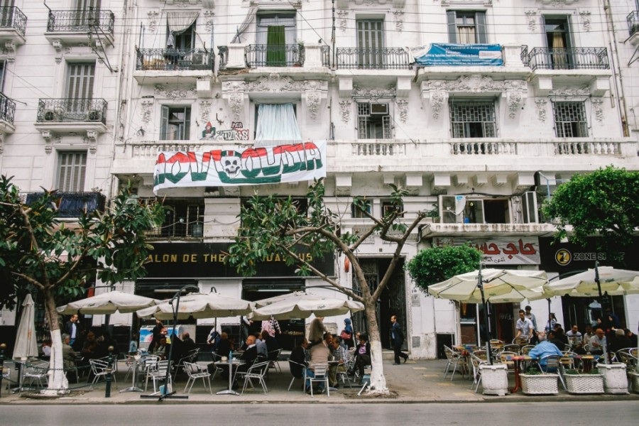 There are few visible reminders of the civil war on Algiers' main thoroughfare, but the conflict is still part of the collective memory