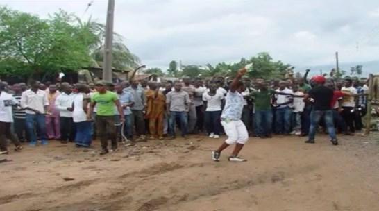 Manifestazione per l'indipendenza del Biafra
