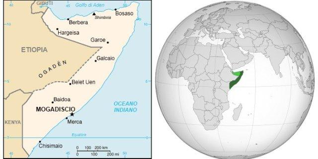 Mappa della Somalia