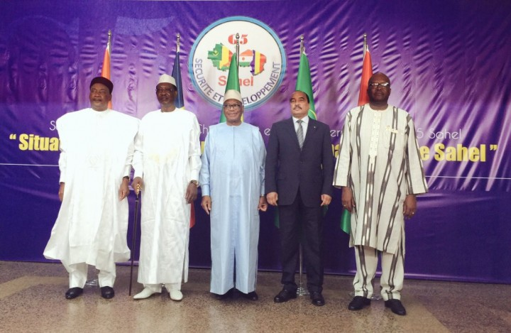 Presidenti di Ciad, Mali, Burkina Faso, Niger, Mauritania al G5 Sahel