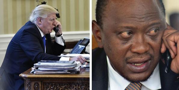 Donald Trump. presidente degli USA e Uhuru Kenyatta, presidente del Kenya