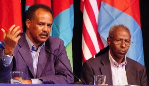 Il dittatore Isaias Afeworki (a sinistra) e al suo fianco Yemane Gebreab