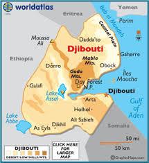 Mappa Gibuti